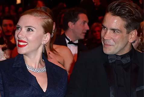 Scarlet Johansson and fiancé Romain Dauriac