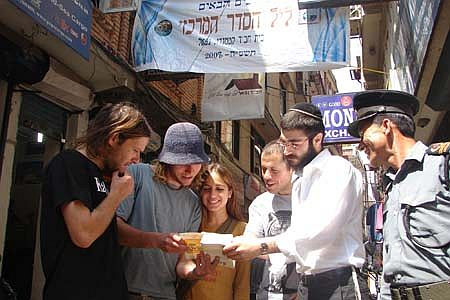 Preparing for the annual Chabad-Lubavitch seder in Katmandu, Nepal, 2008
