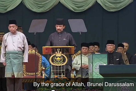 The Sultan of Brunei announced the imposition of the Shariah Penal Code starting April 1, 2014.