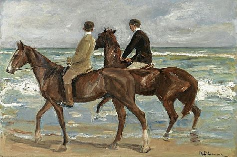 'Two Riders on the Beach' is an oil painting by German Jewish painter Max Liebermann.