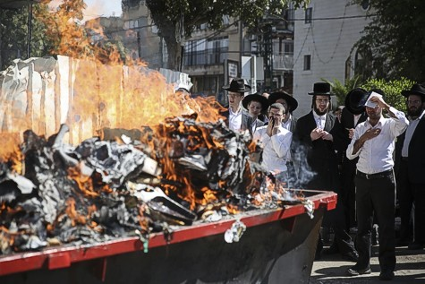 Burning Chametz