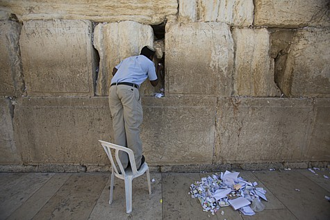 Cleaning out Kotel Wall