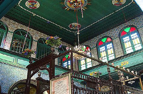The interior of the El Ghriba synagogue on the island of Djerba, Tunisia, in 2009.