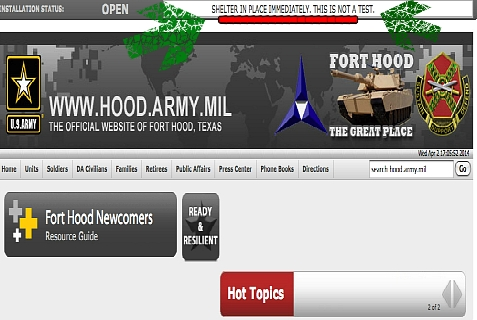 Another shooting at Ft. Hood Army Base in Texas