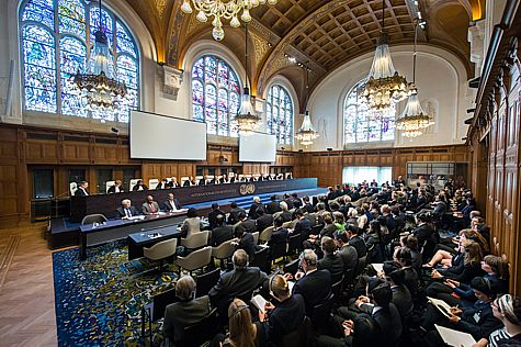 The International Court of Justice courtroom.