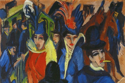 """Berlin Street Scene,"" by Ernst Ludwig Kirchner, is one of the more than 1000 allegedly Nazi-looted paintings found in 2012 in the apartment of  Cornelius Gurlitt."