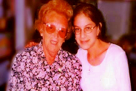 "Malki Z""L with her Australian grandmother (may she be well), Genia Roth.  Malki's paternal grandparents survived  the Holocaust, losing almost everything. Malki herself was murdered in Jerusalem  by Hamas terrorists, among this generation's heirs to the Nazi heritage, when she was 15."