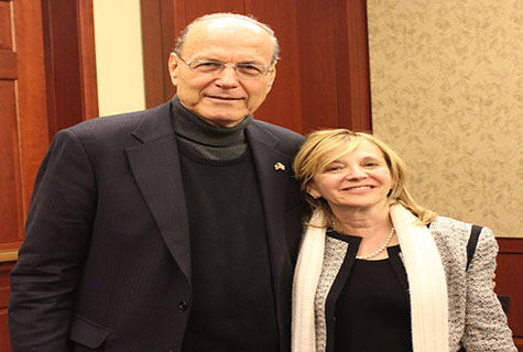 "(L-R) Ambassador Yoram Ettinger, an insider on US-Israel relations, mideast politics, and member of the American-Israel Demographic Research Group (AIDRG); Sarah Stern, founder and president of ""Endowment For Middle East Truth"" (EMET)."