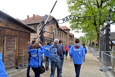 Jewish Youth from all over the world participating in the March of the Living seen at the Auschwitz-Birkenau camp site in Poland, on the eve of the Israeli Holocaust Memorial Day, on April 27, 2014. Photo by Yossi Zeliger/Flash 90.