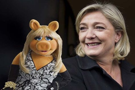 Marine Le Pen and Miss Piggy