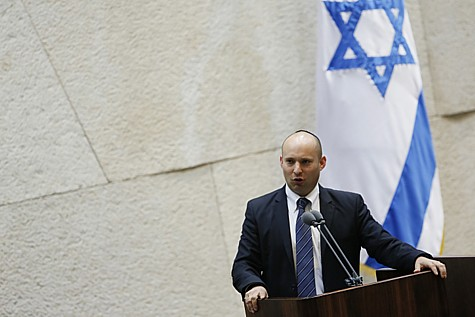 Naftali Bennett speaking in the Knesset