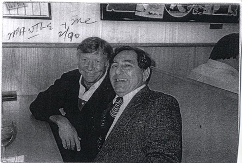 Zalta with Mickey Mantle in 1990.