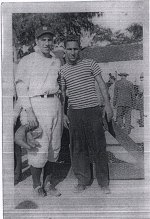Zalta with Phil Rizzuto.