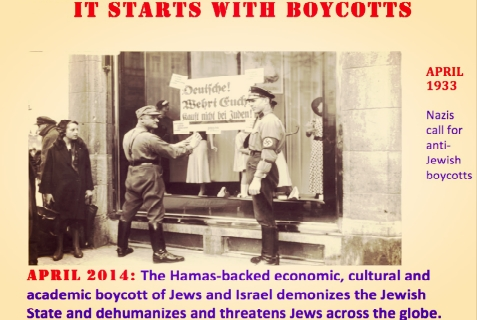Starts with Boycotts Rally to Oppose Israel Boycotters Participation in Celebrate Israel Parade in NYC