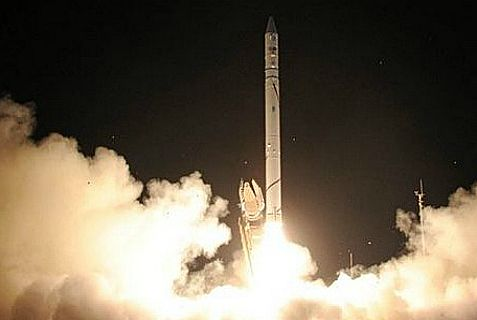 """Ofek 9,"" the predecessor to Ofek 10 that was successfully launched Wednesday night."