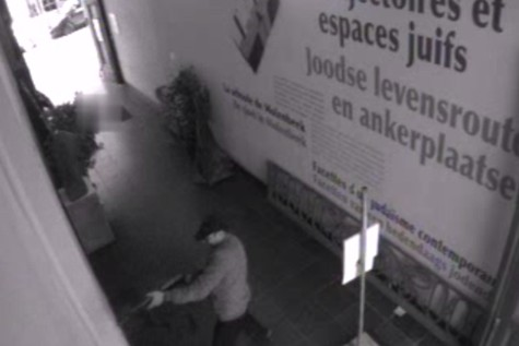 Terrorism in Belgium is on the rise:  security footage of radical Islamist terrorist attacking the Belgium Jewish Museum in May 2014.