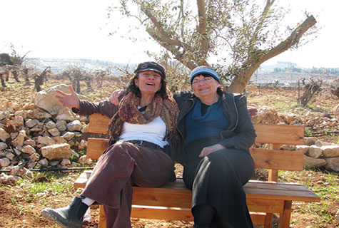 Nadia Matar (l) and Yehudit Katzover