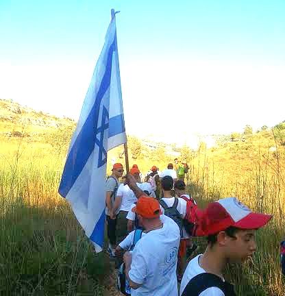 Great in Uniform members walking the land of Israel