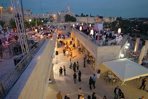 General view of Mamila mall, the Mamila project in Jeusalem on it's opening night, May 28 2007.