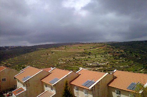 View of the Judean hills from the Gush Etzion city of Efrat.