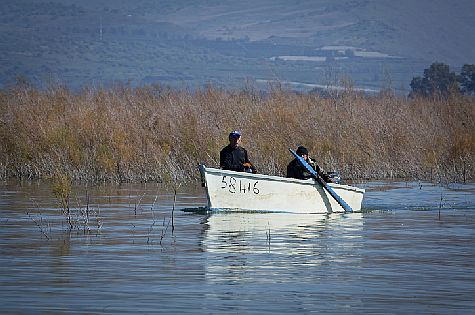 Paddling around Lake Kinneret.