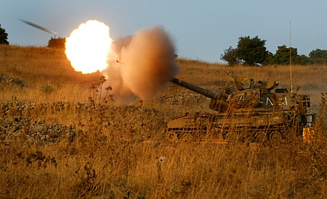 Archive: IDF artillery firing up North.