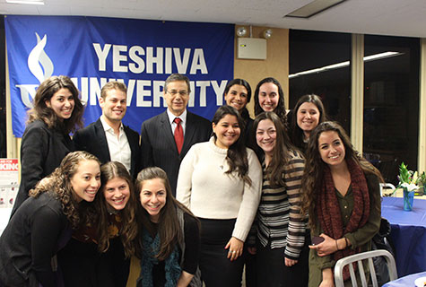 Ambassador Ayalon with some of his students.
