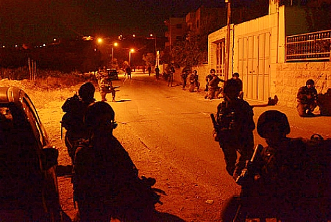 IDF troops searching for Eyal, GIlad and Naftali in Operation Brother's Keeper.