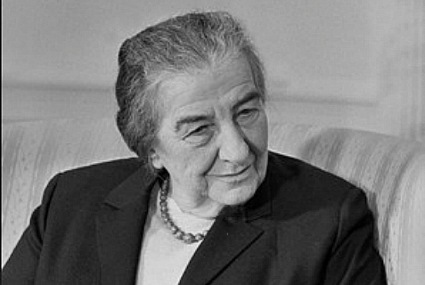 Golda Meir, Prime Minister of Israel from 1969 to 1974.