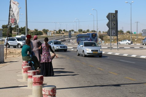 Hitchhiking at Gush Etzion Junction