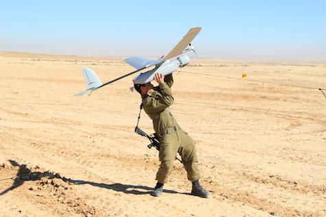 IDF soldier launches Skylark drone