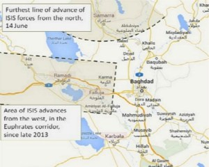ISIS closing in on Baghdad.