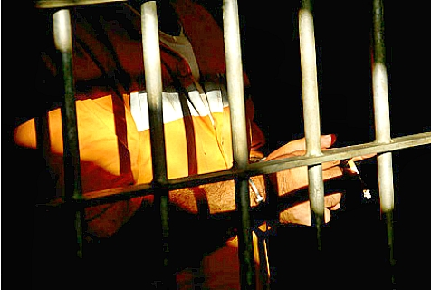 A prisoner in Israel's Ramle Prison. (file)