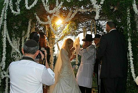 A Jewish wedding.