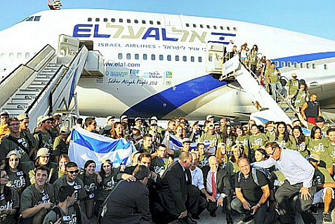 New immigrants from USA and Canada arriving at Ben Gurion Airport.