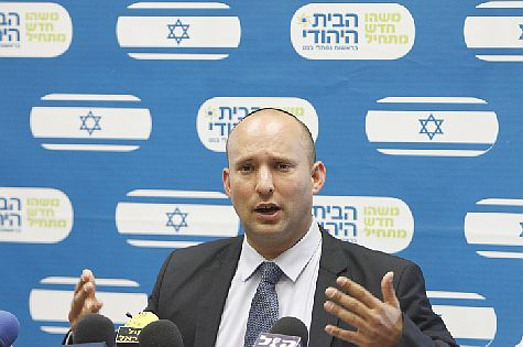 Economy Minister Naftali Bennett, head of the Bayit Yehudi party. Hated by the EU.