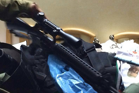 Weapons confiscated from terrorists in Shechem, June 17, 2014