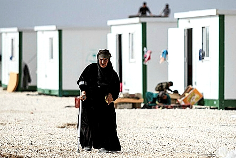 Syrian refugees at the Zaatari refugee camp in Northern Jordan.