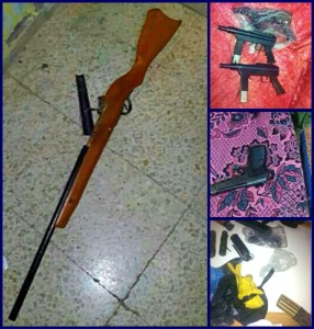 More weapons recovered by the IDF in the homes of Arabs they searched while seeking to recover the Kidnapped Boys.