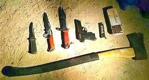 The IDF found these weapons in the homes of Arabs while they were searching for the Kidnapped Boys in Nablus on June 16, 2014.