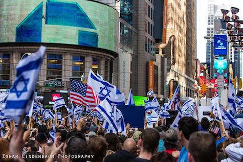 Pro-Israel Protesters in Manhattan, July 20,2014.