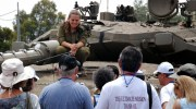 Visiting IDF bases and receiving briefings from IDF officers.