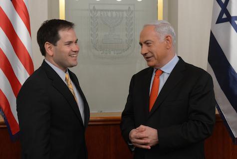 US Senator Marco Rubio (R-Florida) meets with Prime Minister Netanyahu