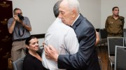 Shimon Peres meets with the family of fallen IDF soldier Max Steinberg.