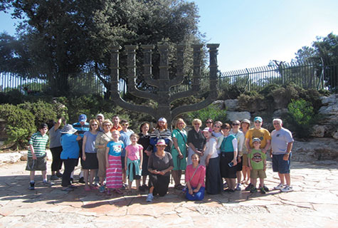 Participants in the Eretz Yisrael Movement July 2014 tour.