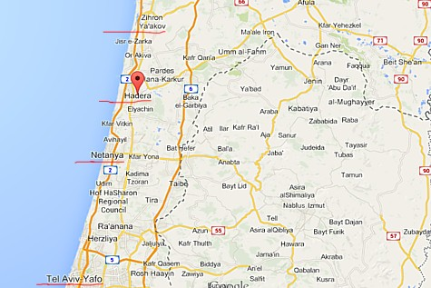 Hadera on the Map