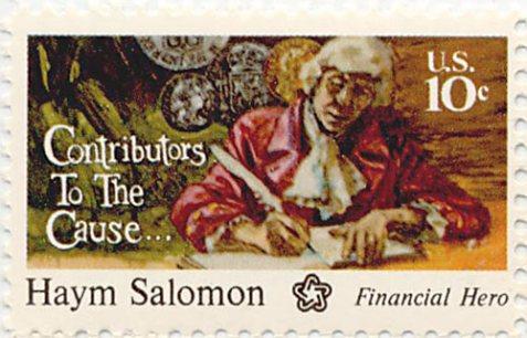 U.S. postage stamp honoring Haym Solomon.