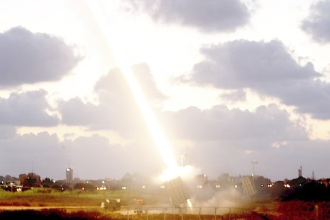 An Iron Dome defensive system firing near Ashdod. The system has protected millions of Israelis, at least 550 times during Operation Protective Edge.