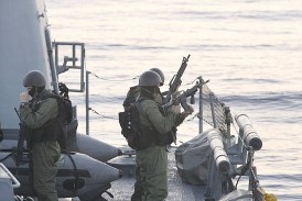 IDF Naval commandos on a mission.