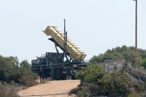 A Patriot Missile system in Israel.